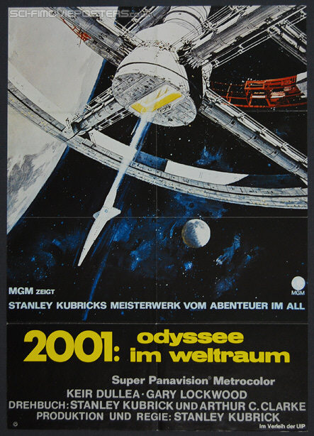 2001: A Space Odyssey (1968) Re-release 1973 - Original German Movie Poster