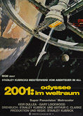 2001: A Space Odyssey (1968) First re-release 1972 - Original German Movie Poster