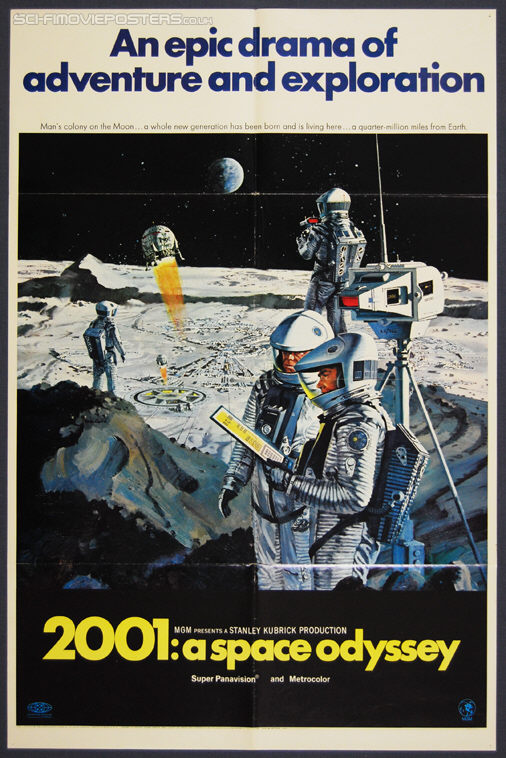 2001: A Space Odyssey (1968) Style B - Original US One Sheet Movie Poster