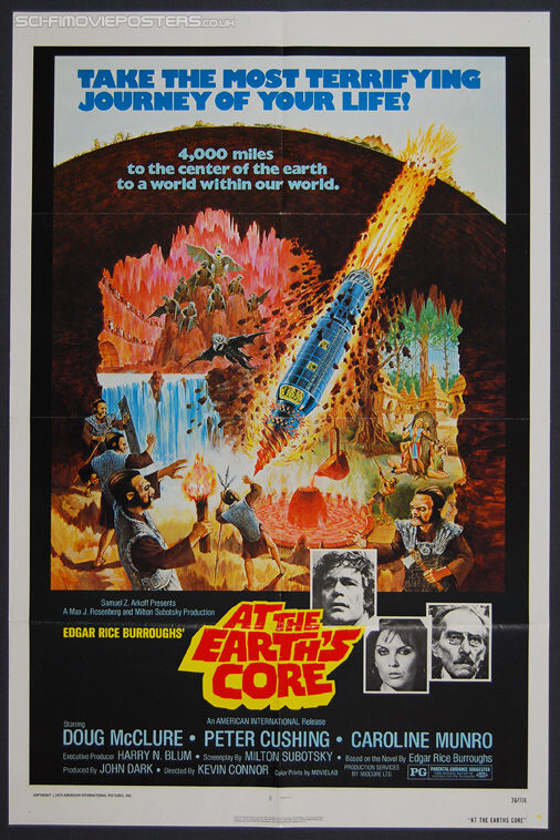 At the Earth's Core (1976) - Original US One Sheet Movie Poster