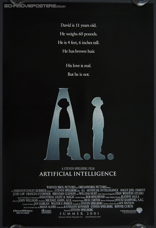 A I: Artificial Intelligence (2001) - Original US One Sheet Movie Poster