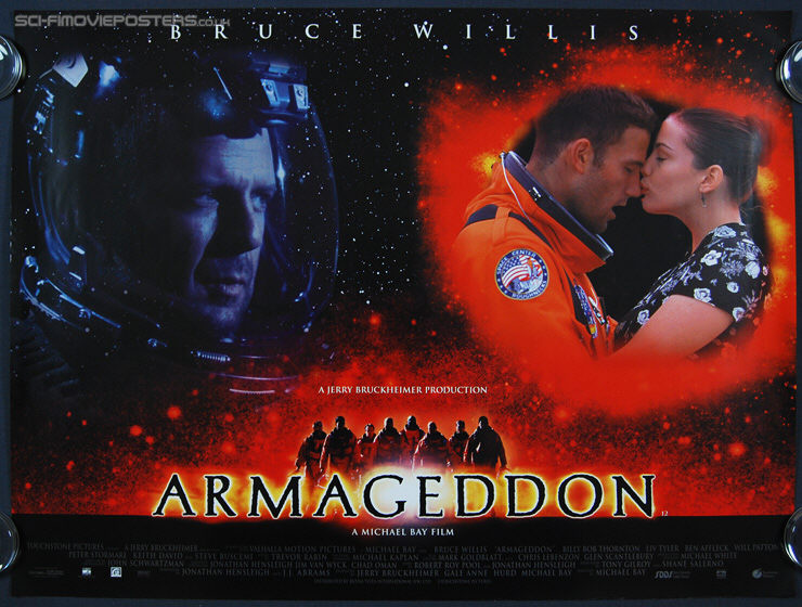 Armageddon (1998) - Original British Quad Movie Poster