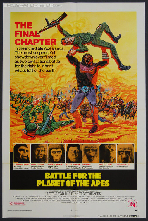 Battle for the Planet of the Apes (1973) - Original US One Sheet Movie Poster