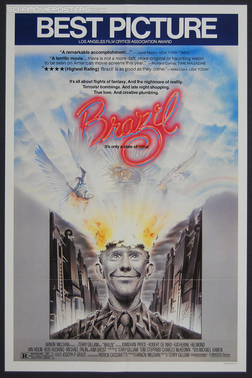Brazil (1985) 'Best Picture' - Original US One Sheet Movie Poster