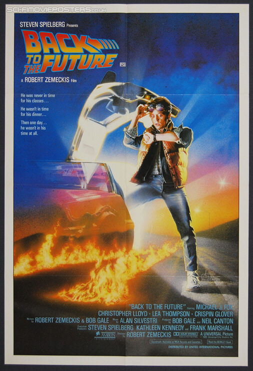 Back to the Future (1985) - Original International One Sheet Movie Poster