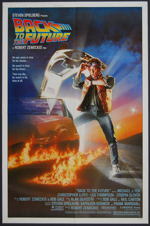 Back to the Future (1985) - Original US One Sheet Movie Poster