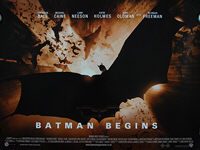 Batman Begins (2005) Style B - Original British Quad Movie Poster