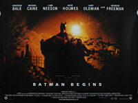 Batman Begins (2005) Style C - Original British Quad Movie Poster