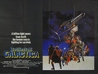 Battlestar Galactica (1978) - Original British Quad Movie Poster