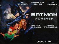 Batman Forever (1995) - Original British Quad Movie Poster