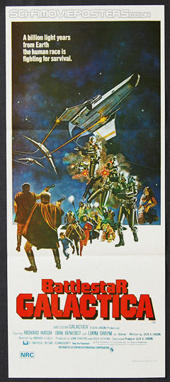 Battlestar Galactica (1978) - Original Australian Daybill Movie Poster