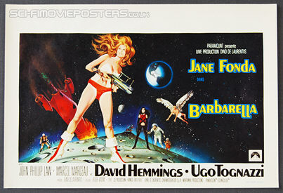Barbarella (1968) - Original Belgian Movie Poster