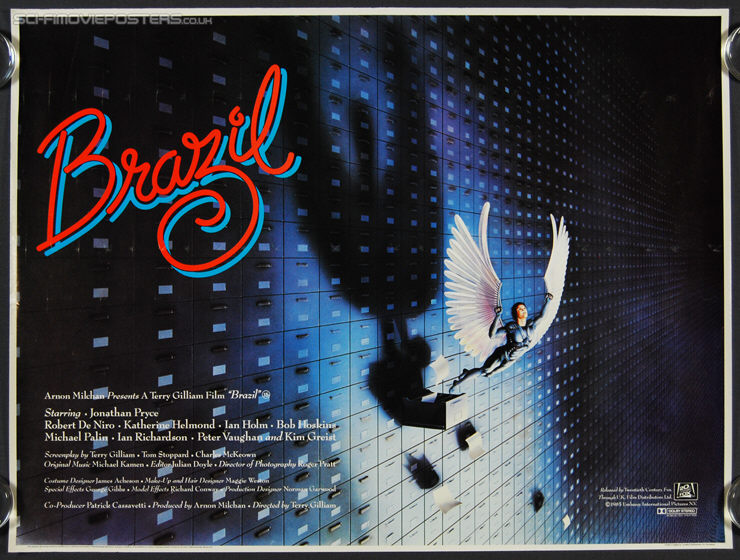 Brazil (1985) - Original British Quad Movie Poster