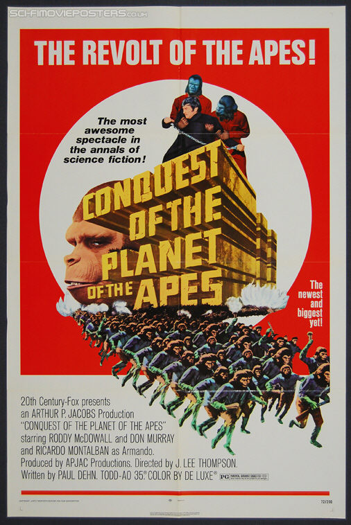 Conquest of the Planet of the Apes (1972) - Original US One Sheet Movie Poster