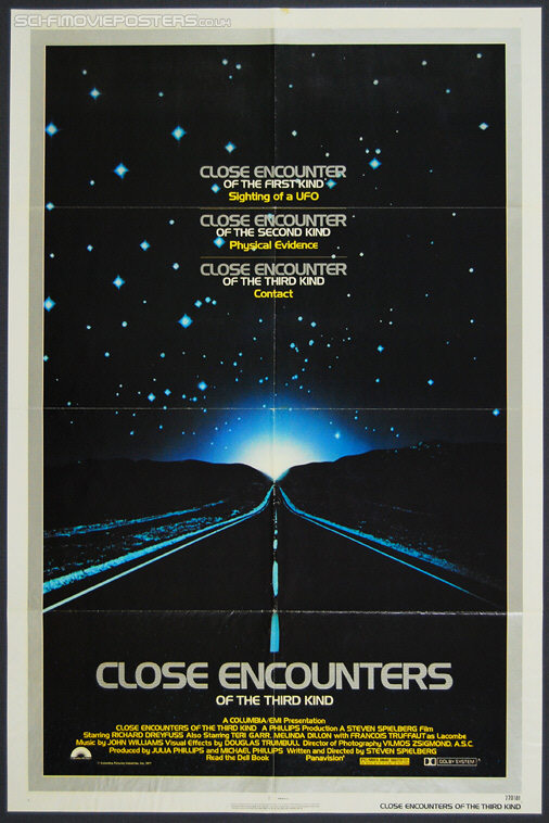Close Encounters of the Third Kind (1977) 'PG' - Original US One Sheet Movie Poster(1981) - Original US One Sheet Movie Poster