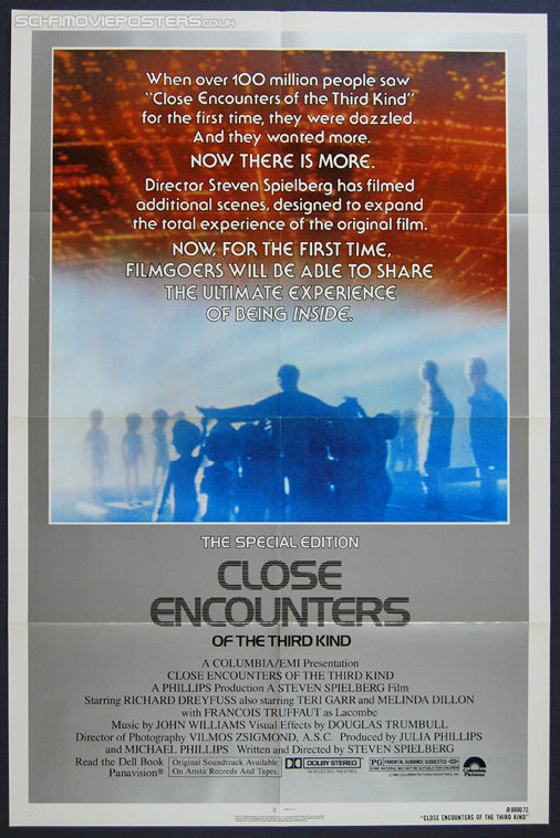 Close Encounters of the Third Kind: Special Edition (1980) - Original US One Sheet Movie Poster(1981) - Original US One Sheet Movie Poster