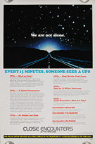 Close Encounters of the Third Kind 'Facts' (1977) - Original US One Sheet Movie Poster
