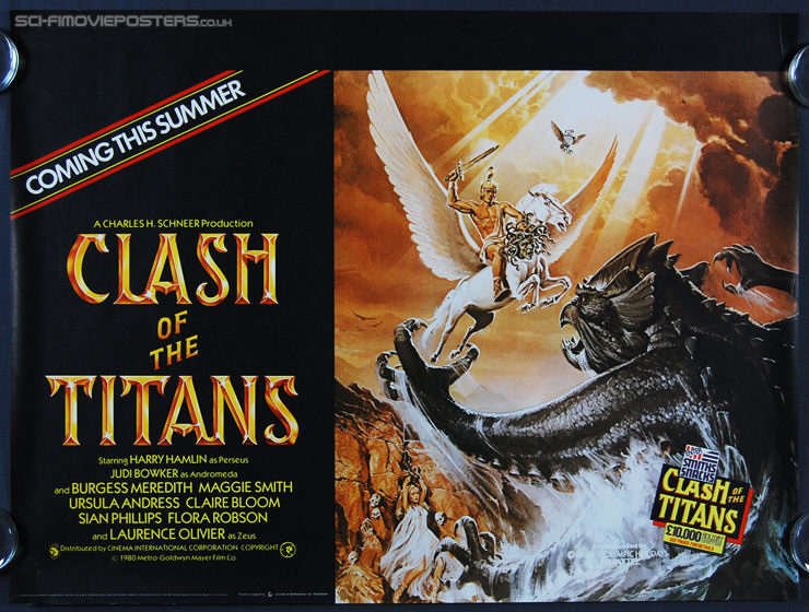Clash of the Titans (1981) - Advance Original British Quad Movie Poster