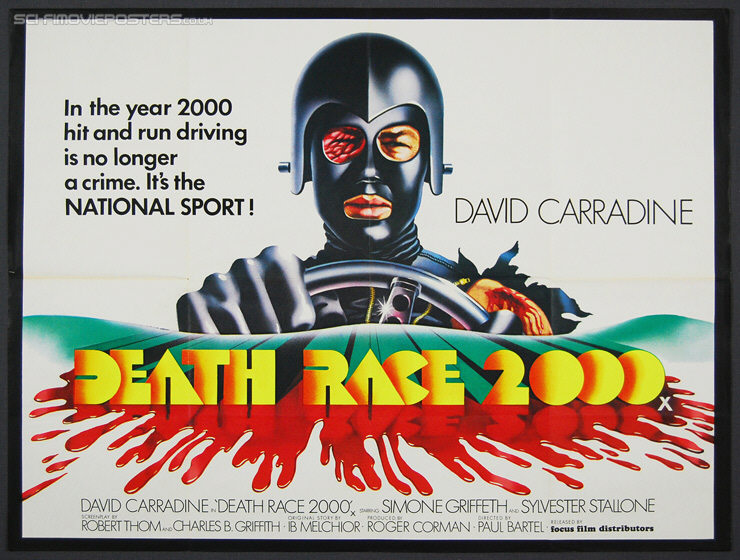 Death Race 2000 (1975) - Original British Quad Movie Poster