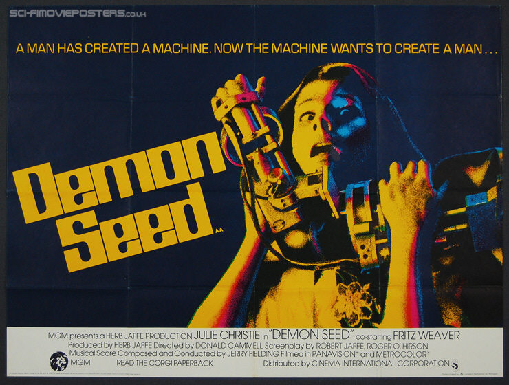 Demon Seed (1977) - Original British Quad Movie Poster