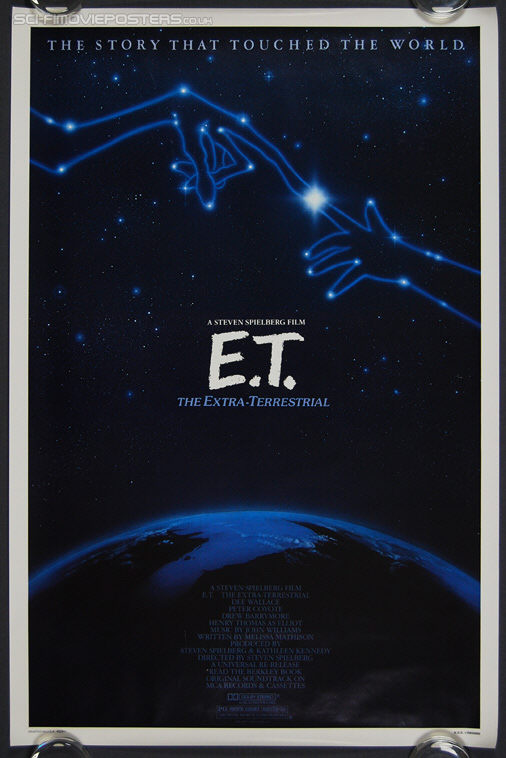 E T: The Extra-Terrestrial (1982) Re-release 1985 - Original US One Sheet Movie Poster
