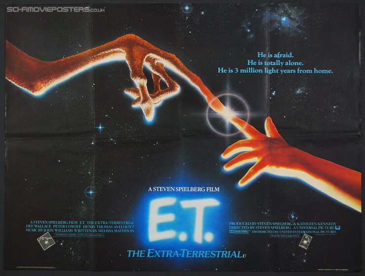 E T: The Extra-Terrestrial (1982) - Original British Quad Movie Poster