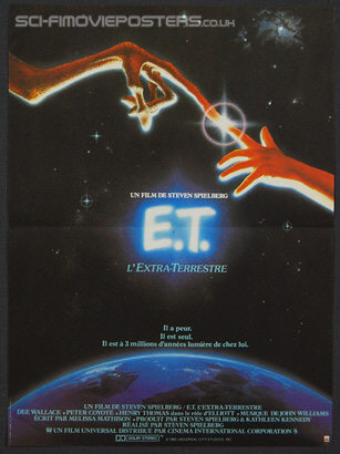 E T: The Extra-Terrestrial (1982) - Original French Movie Poster