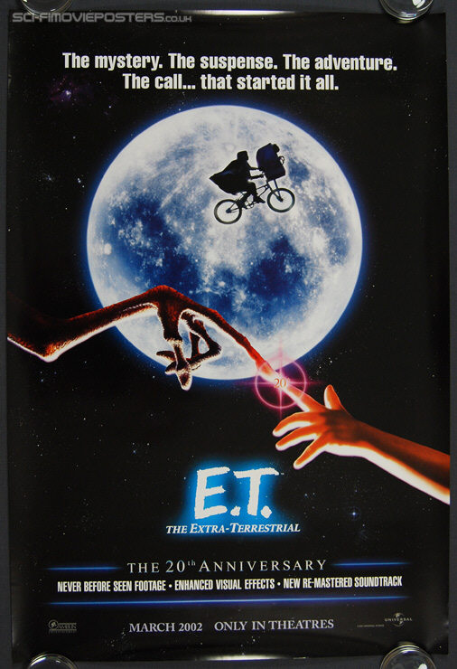E T: The Extra-Terrestrial (1982) 20th Anniversary - Original US One Sheet Movie Poster