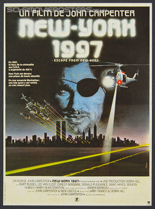 Escape from New York (1981) - Original French Movie Poster