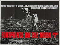 Footprints on the Moon: Apollo 11 (1969) - Original British Quad Movie Poster