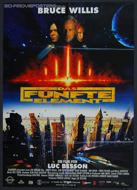 Fifth Element, The (1997) - Original German Movie Poster
