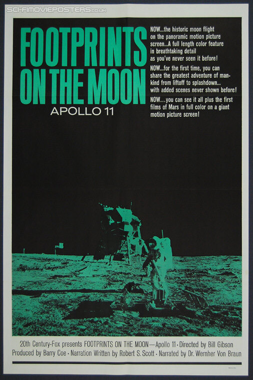 Footprints on the Moon: Apollo 11 (1969) - Original US One Sheet Movie Poster