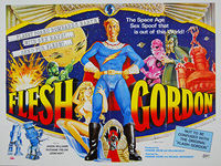 Flesh Gordon (1974) - Original British Quad Movie Poster
