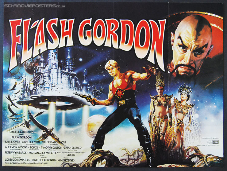 Flash Gordon (1980) - Original British Quad Movie Poster