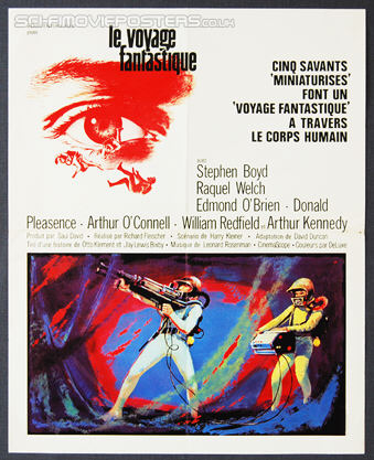 Fantastic Voyage (1966) - Original French Movie Poster
