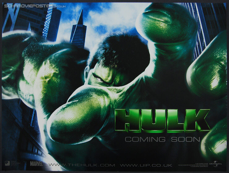 Hulk (2003) Advance - Original British Quad Movie Poster