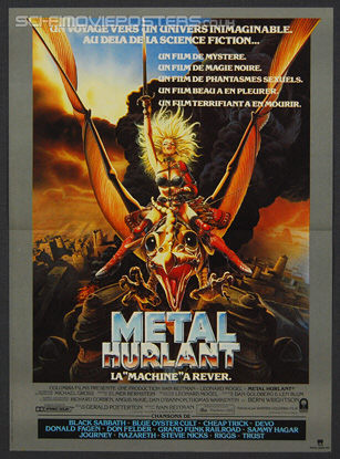 Heavy Metal (1981) - Original French Movie Poster