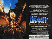 Heavy Metal (1981) - Original British Quad Movie Poster