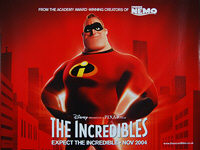 Incredibles, The (2004) - Original British Quad Movie Poster