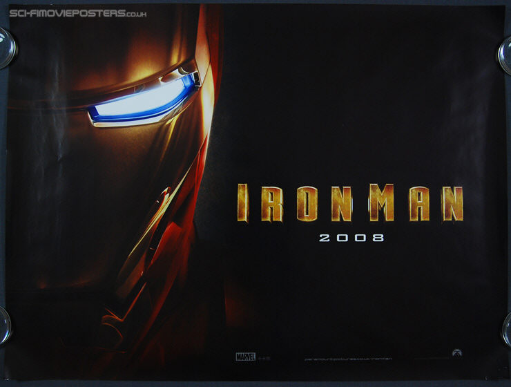 Iron Man (2008) Advance - Original British Quad Movie Poster