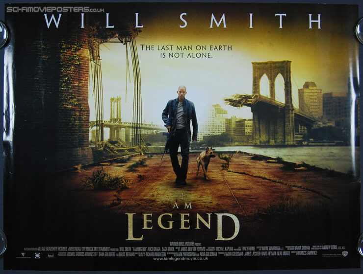 I Am Legend Movie Poster will smith movies posters