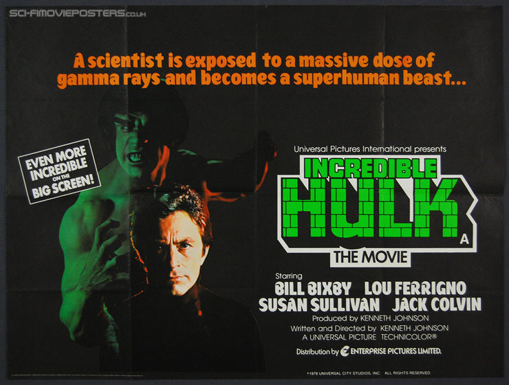 Incredible Hulk The Movie (1979) - Original British Quad Movie Poster