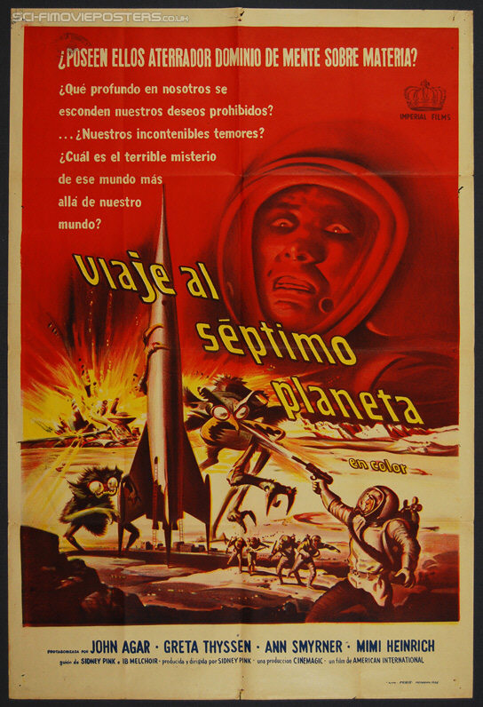 Journey to the Seventh Planet (1962) - Original Argentinean One Sheet Movie Poster