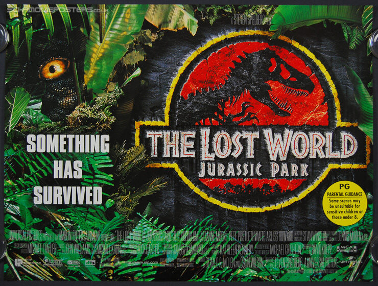 Jurassic Park: The Lost World: (1997) - Original British Quad Movie Poster