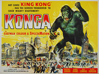 Konga (1961) - Original British Quad Movie Poster
