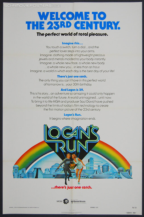 Logan's Run (1976) Advance - Original US One Sheet Movie Poster