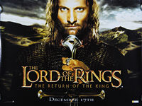 Lord of the Rings: The Return of the King, The (2003) Advance - Original British Quad Movie Poster