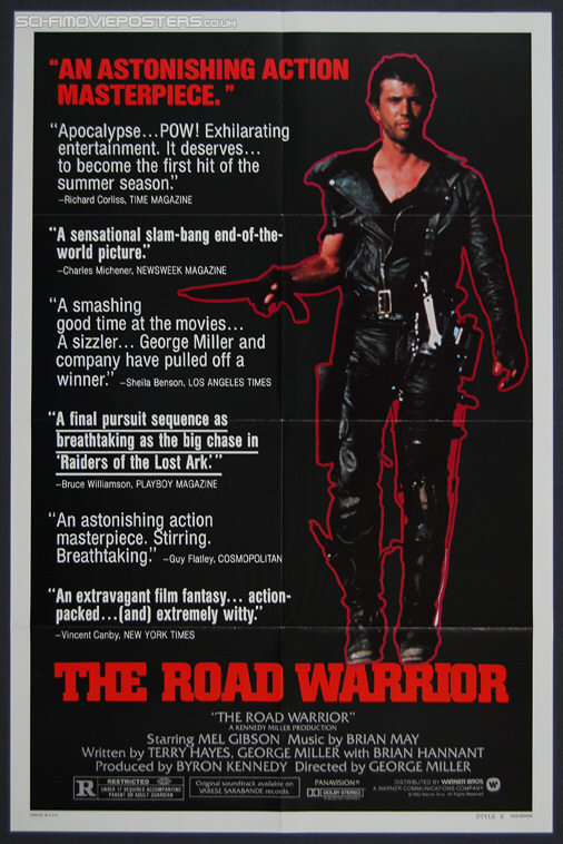 Mad Max 2: The Road Warrior (1981) Style 'B' - Original US One Sheet Movie Poster