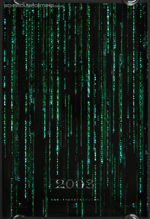 Matrix Reloaded, The (2003) 3D HoloFoil '2003' - Original US One Sheet Movie Poster