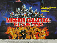 Mission Galactica: The Cylon Attack (1978) - Original British Quad Movie Poster